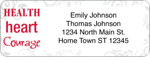 Heart, Love, Cure Return Address Label