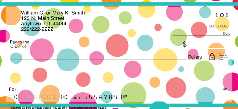 Polka Dots Personal Checks 1800616001