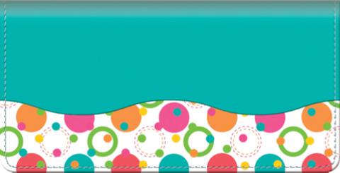 Polka Dots Checkbook Cover