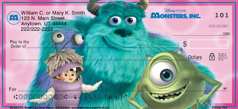 Monsters Inc Personal Checks