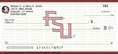Florida State University Personal Checks