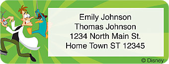 Phineas & Ferb Return Address Label