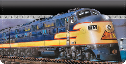 Diesel Trains Checkbook Cover