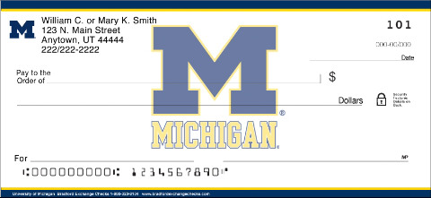 University of Michigan Wolverines Checks