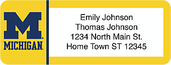 University of Michigan Return Address Label