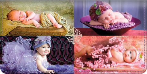 Blissful Babies Checkbook Cover