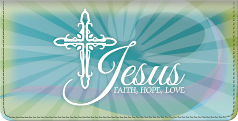 Faith Hope Christ Checkbook Cover