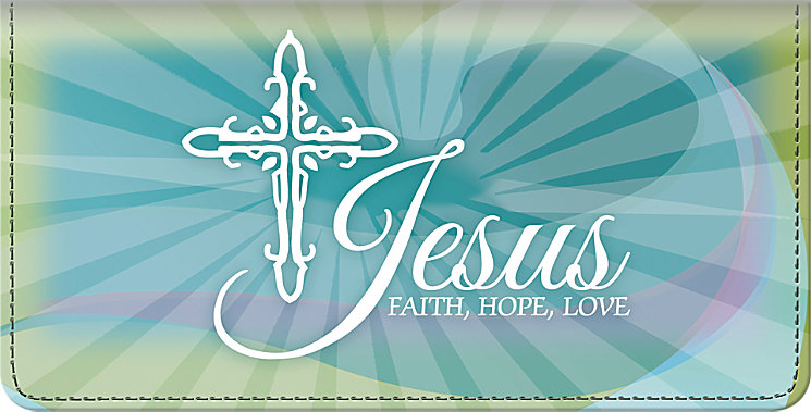 Bradford Exchange Checks Faith Hope Christ Checkbook Cover at Sears.com