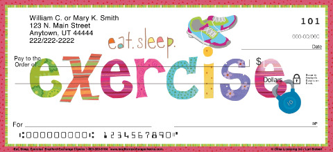 Eat Sleep Exercise Personal Checks
