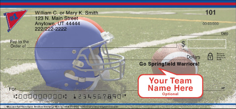 Blue & Red Team Spirit Personal Checks