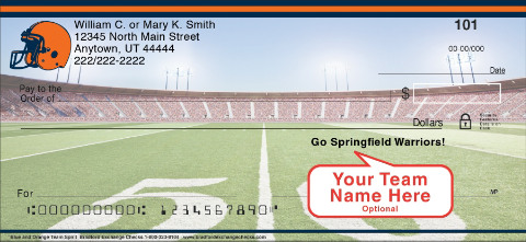 Blue & Orange Team Spirit Personal Checks