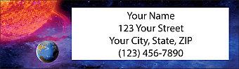 Wonders of Space Return Address Label
