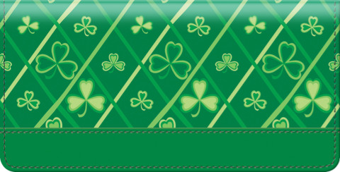 Shamrocks Checkbook Cover