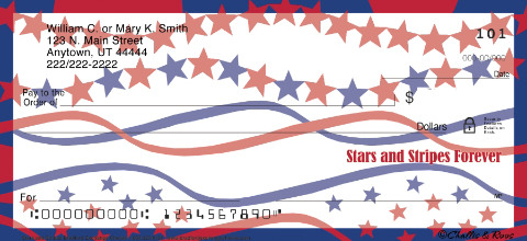 Stars & Stripes Personal Checks