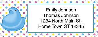 Peeps Return Address Label