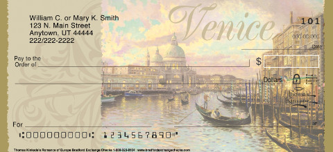 Thomas Kinkade's Romance of Europe Personal Checks, European Travel Checks