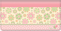 Be Happy Checkbook Cover, Pretty In Pink Checkbook Cover, Floral Pattern Checkbook Cover