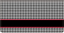 Houndstooth Checkbook Cover, Fashion Checkbook Cover