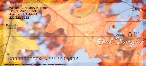 Autumn Leaves Personal Checks