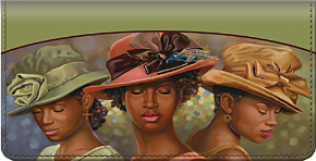 Sunday Hats Checkbook Cover