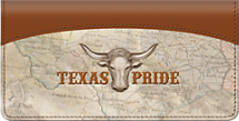Texas Pride Checkbook Cover, Longhorn Checkbook Covers