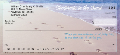 Footprints Personal Checks
