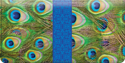 Pretty Peacocks Checkbook Cover 1800669010