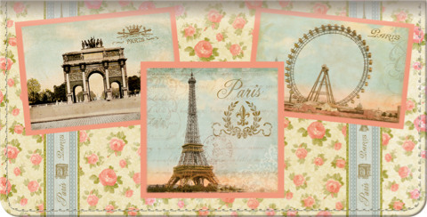 Vue de Paris Checkbook Cover