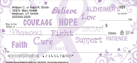 Alzheimers Awareness Personal Checks