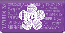 Alzheimer's Awareness Checkbook Cover, Alzheimer's Support Checkbook Cover