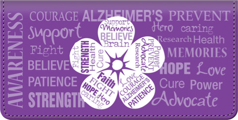 Alzheimers Awareness Checkbook Cover