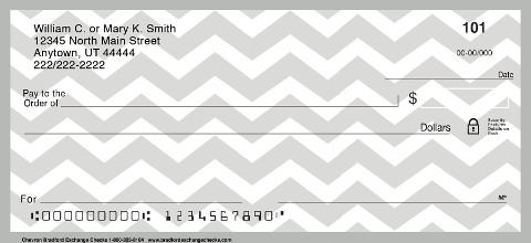 Chevron Chic Personal Checks, Chevron Pattern Checks, Chevron Personal Checks