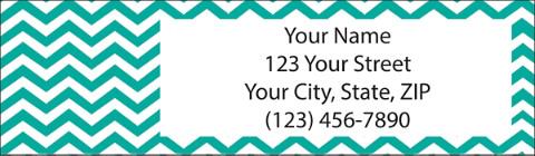 Chevron Chic Return Address Label