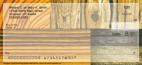 Woodgrain Personal Checks, Woodgrain Checks, Wood Pattern Checks