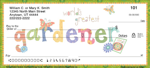 Worlds Greatest Gardener Personal Checks