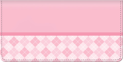 Pink Checkbook Cover