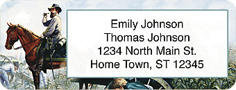 Confederate Generals Return Address Label