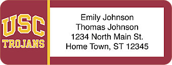 USC Trojans Return Address Label