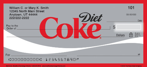 Diet Coke(R) Personal Checks