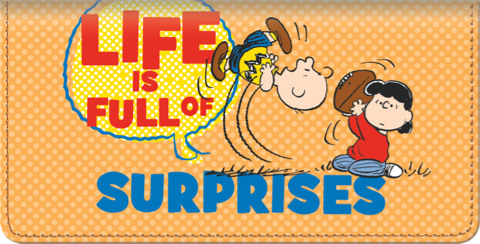 Peanuts Wisdom and Wit Checkbook Cover