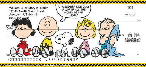 Classic Charlie Brown Personal Checks