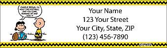 Classic Peanuts Return Address Label