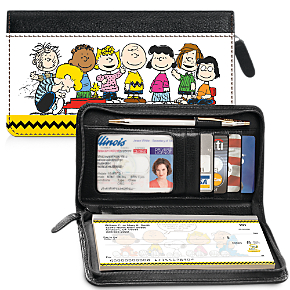 Classic Peanuts Zippered Wallet Checkbook Cover