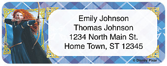 Disney/Pixar Brave Return Address Label