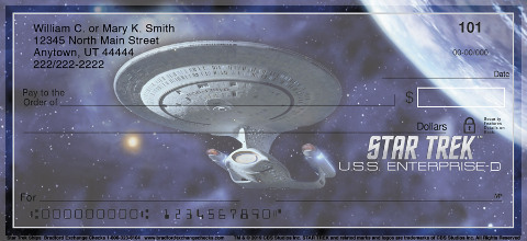 Star Trek Ships Personal Checks
