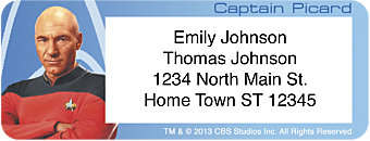 Star Trek Captains Return Address Label