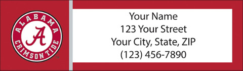 University of Alabama Return Address Label
