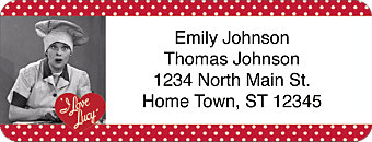 I Love Lucy Classics Return Address Label