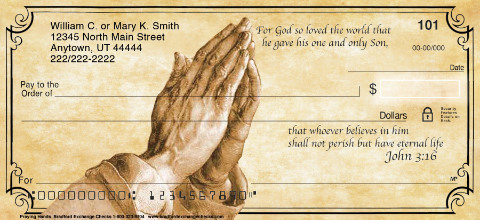 Praying Hands Personal Checks