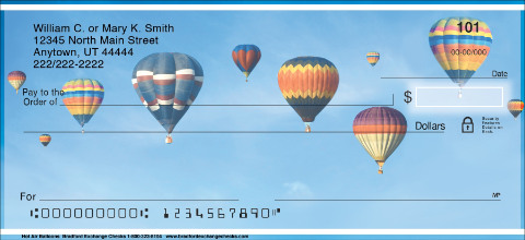 Hot Air Balloons Personal Checks